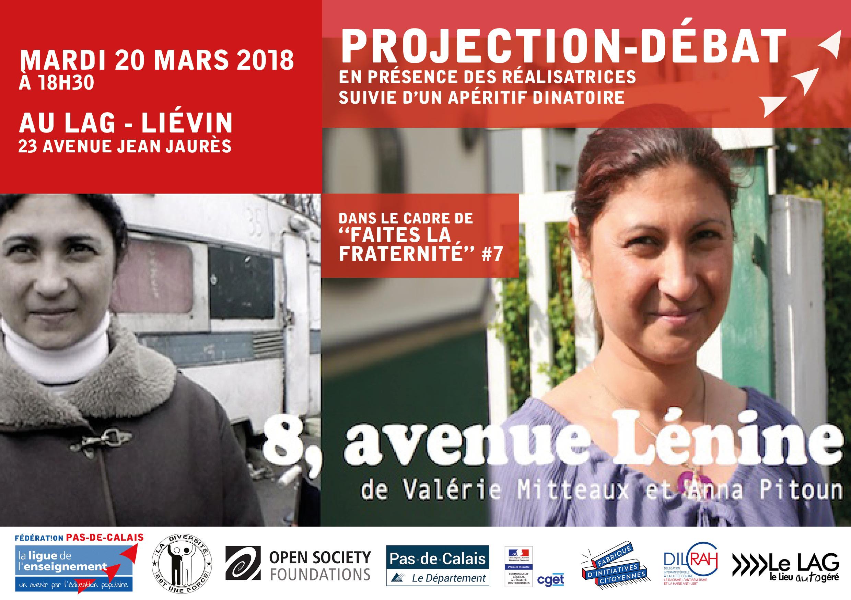 Invitation 20 mars_Projection 8 avenue Lénine au LAG de Liévin