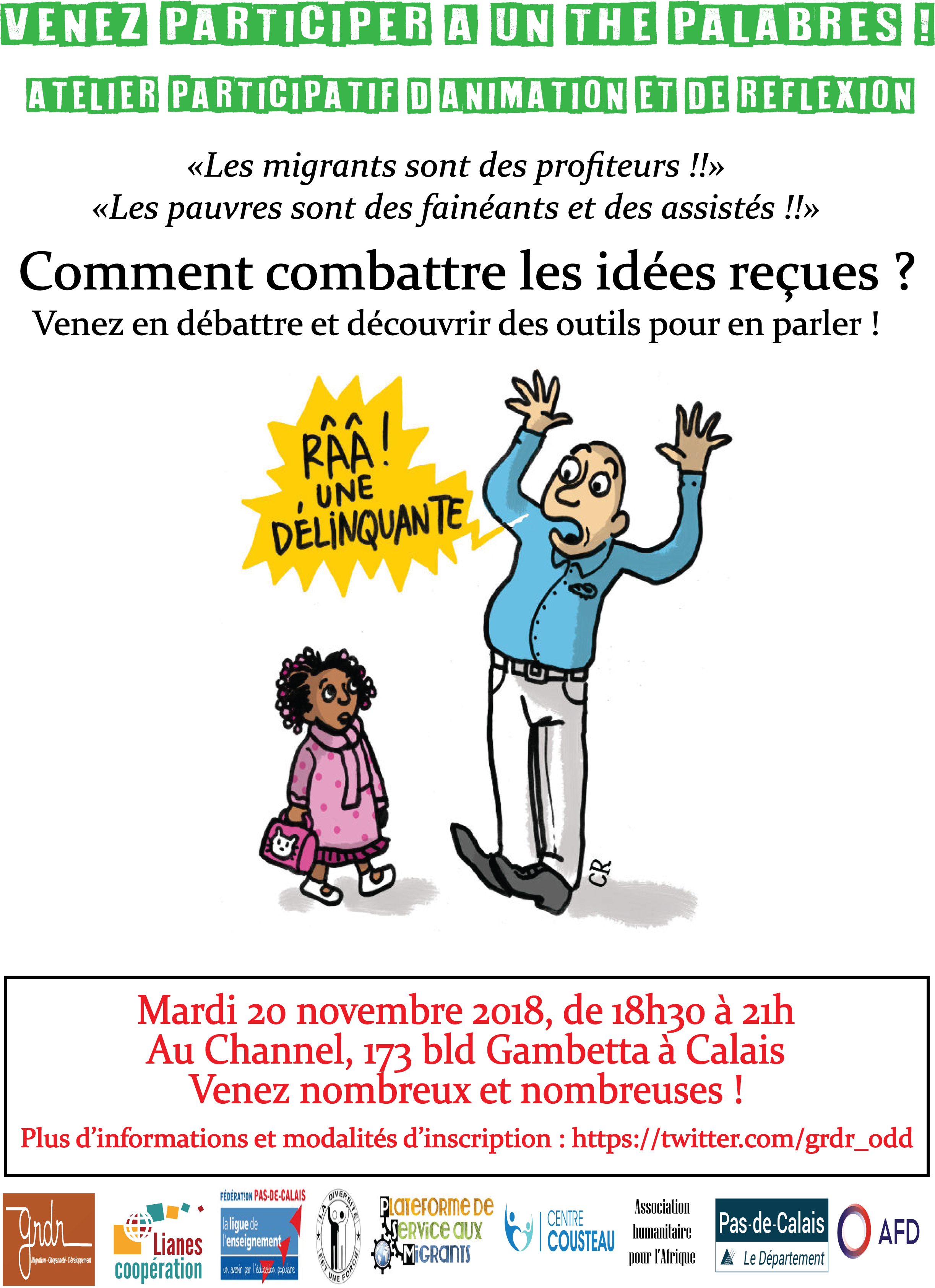 Thé palabre Calais 20.11.2018