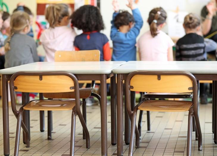 ©PHOTOPQR/L'ALSACE ; Salle de classe d'une école maternelle. (MaxPPP TagID: maxnewsworldfour268717.jpg) [Photo via MaxPPP]